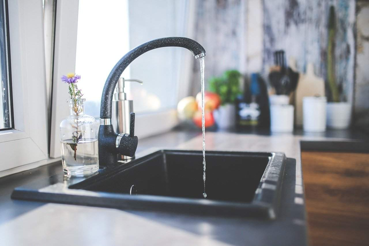 tap, sink, kitchen sink, kitchen, black kitchen sinkfaucet
